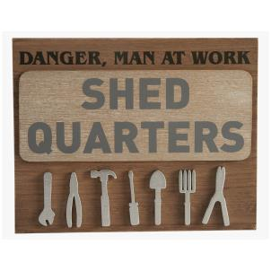 Shed Quarters sign