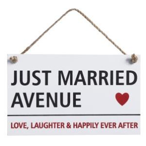 Just Married Avenue sign