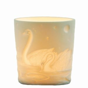 Votive tealight holder - Swans