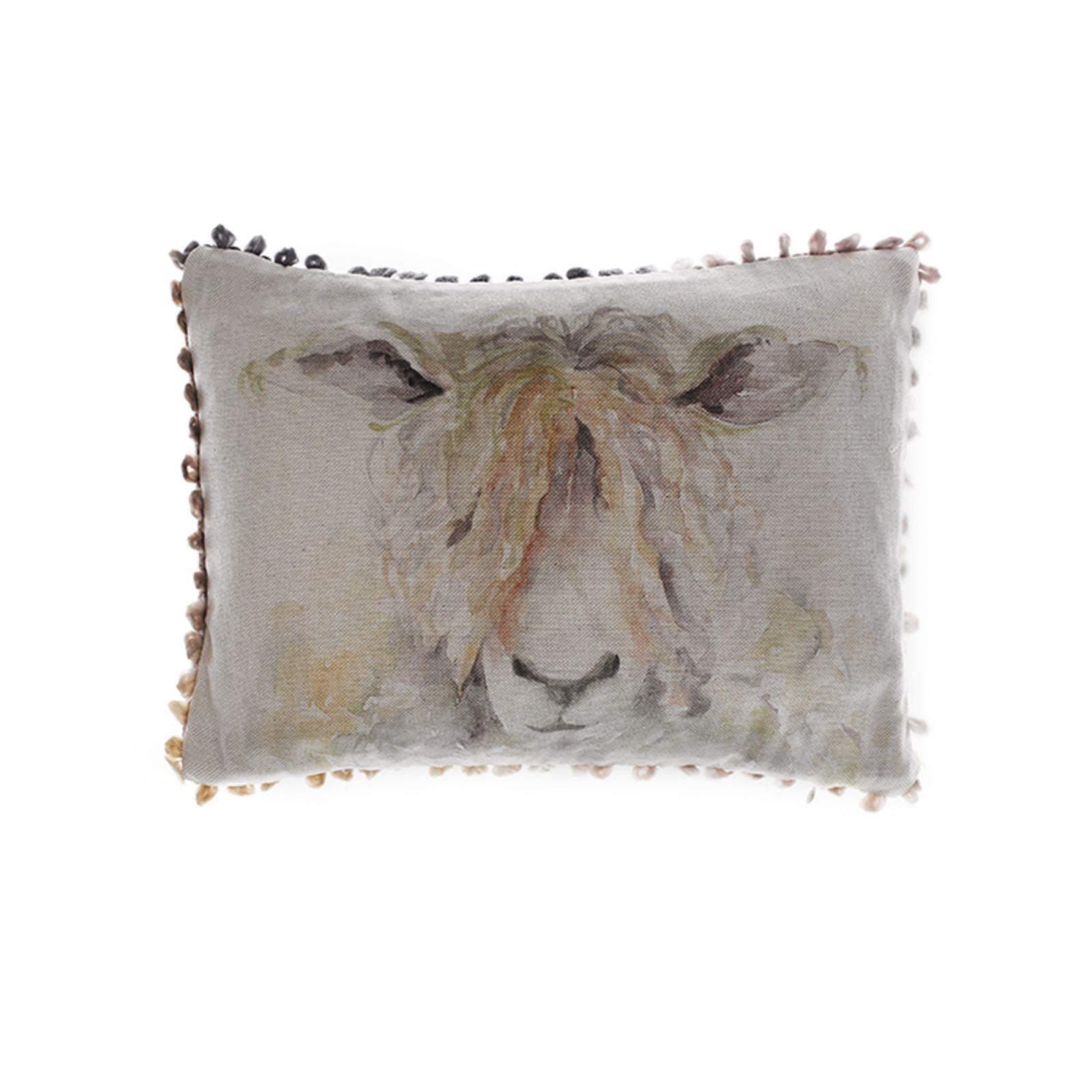Voyage Maison Mr Wooly Linen Print Cushion