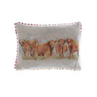 Voyage Maison Highland Cattle Linen Print Cushion