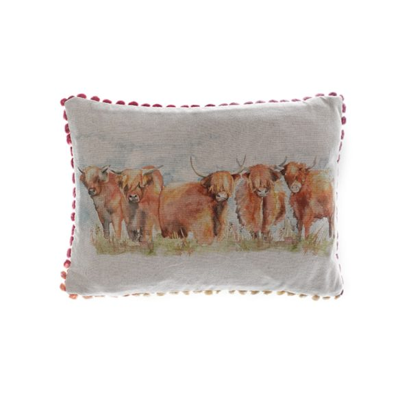 Voyage Maison Highland Cattle Linen Print Cushion