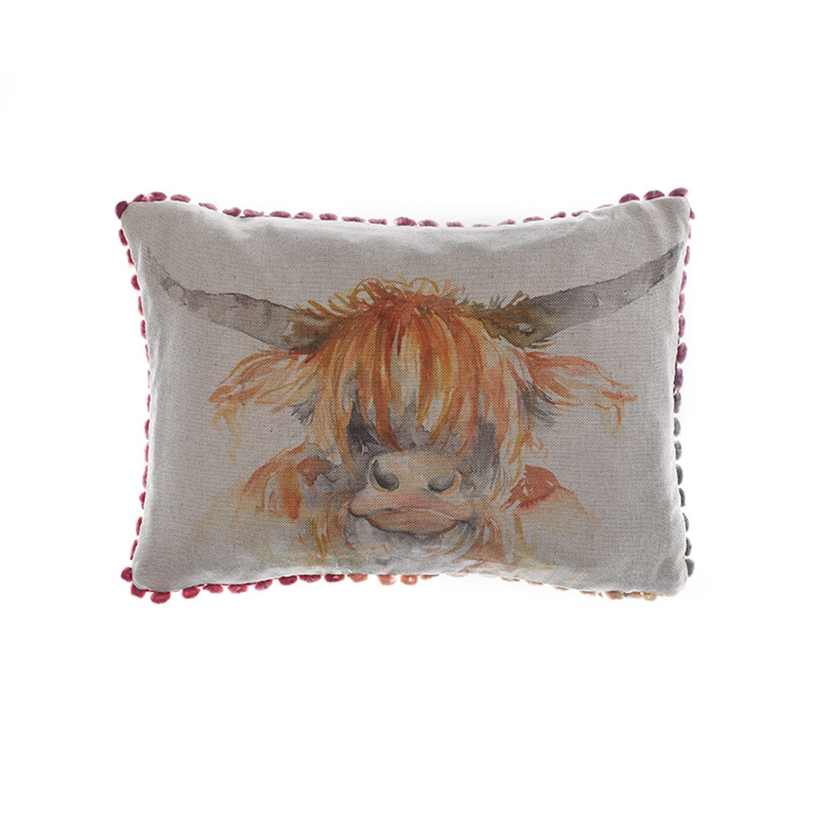 Voyage Maison Highland Coo Linen Print Cushion