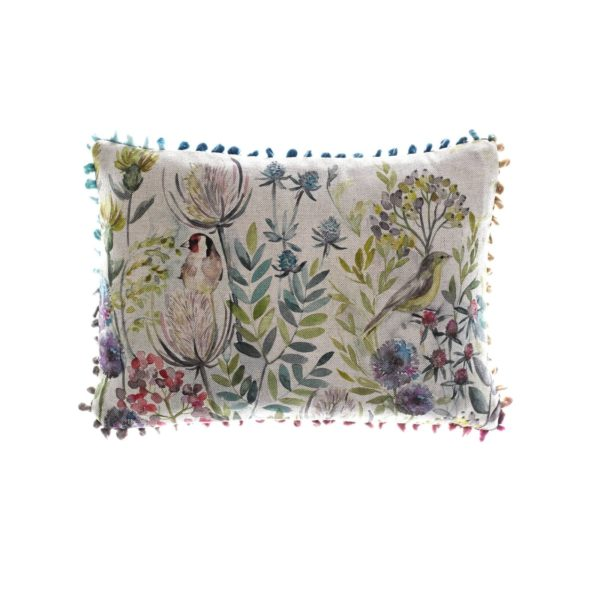 Morning Chorus Linen Print Cushion