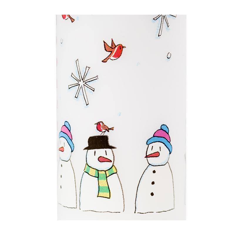 Alison Gardiner Snowmen Pillar Advent Candle