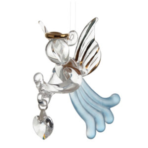 Loving Glass Angel Aquamarine