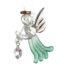 Loving Glass Angel Emerald
