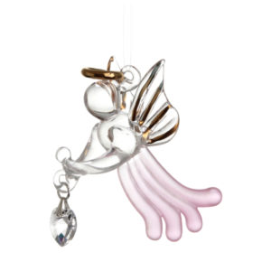 Loving Glass Angel Rose