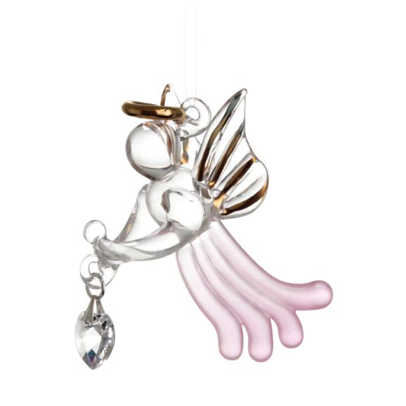 Loving Glass Angel Rose