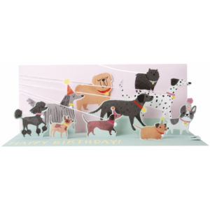 Pop-Up Greeting Card Panoramics Dog Walker Happy Birthday