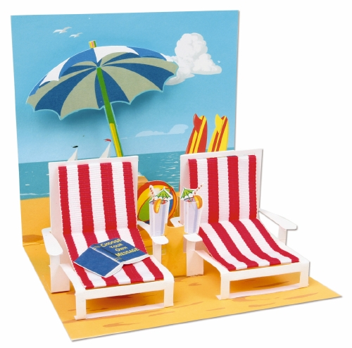 Pop-Up Greeting Card Treasures Beach Chairs