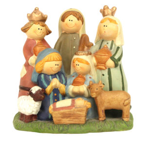Cute ceramic nativity