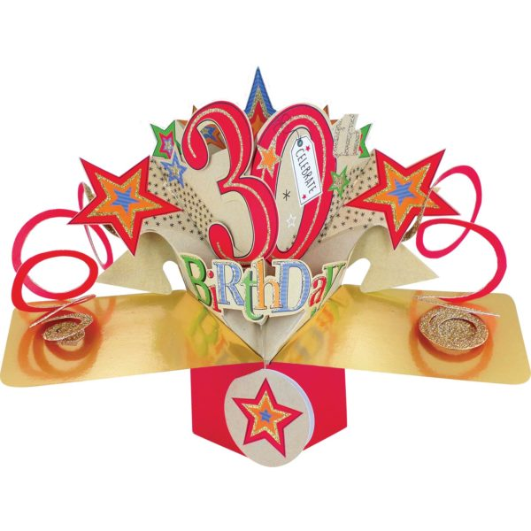 3D Pop Up Card 30th Birthday