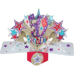 3D Pop Up Card 50th Birthday