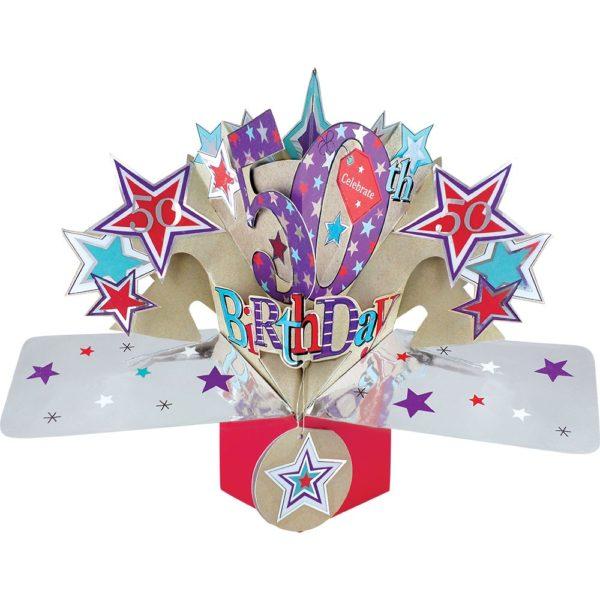3D Pop Up Card 50th Birthday