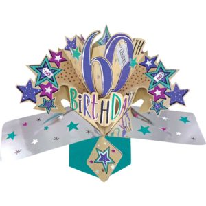 3D Pop Up Card 60th Birthday
