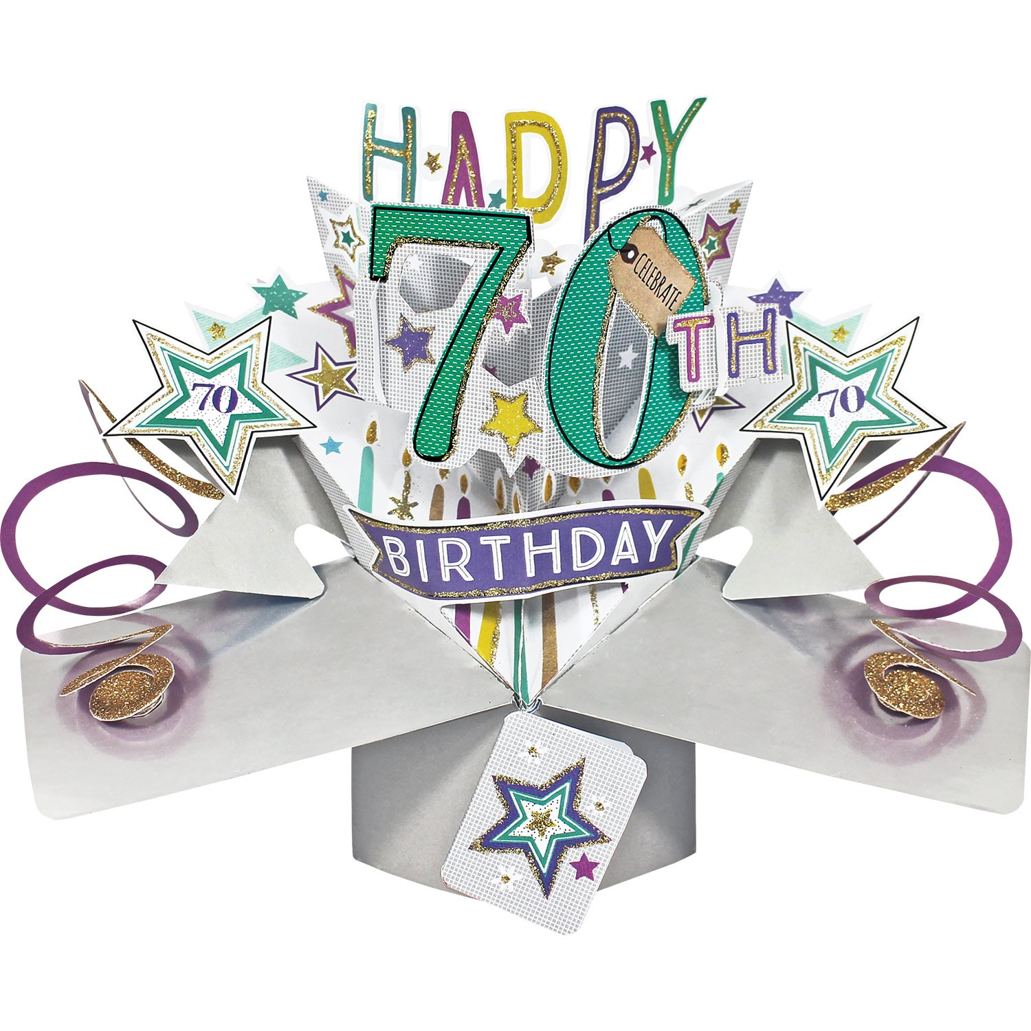 3D Pop Up Card 70th Birthday