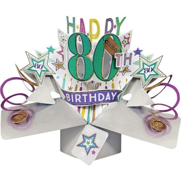 3D Pop Up Card 80th Birthday