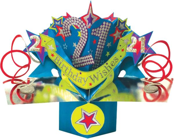3D Pop Up Card 21st Birthday