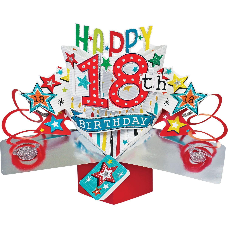 3D POP UP CARD 18TH BIRTHDAY