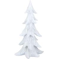 white glitter tree