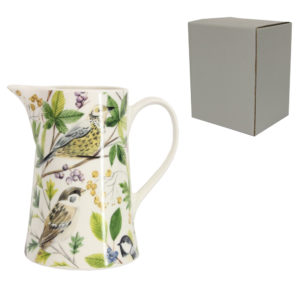 Bone china bluetit jug