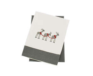 Reindeer set of 2 tea towles
