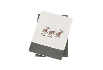 Reindeer set of 2 tea towles