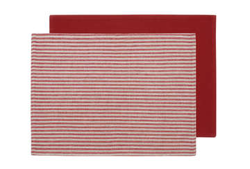 Ticking stripe set of 2 place mats
