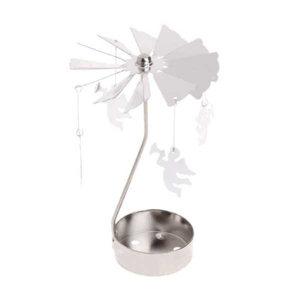 Angel tea light spinner
