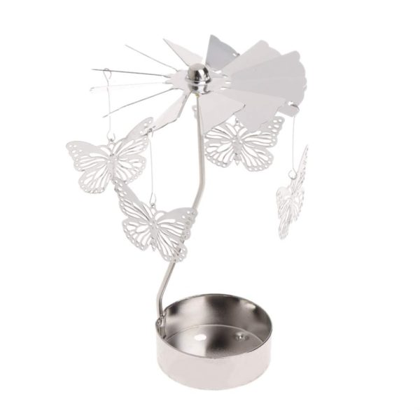 Butterfly tea light spinner
