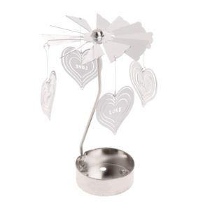 Love Heart tea light spinner