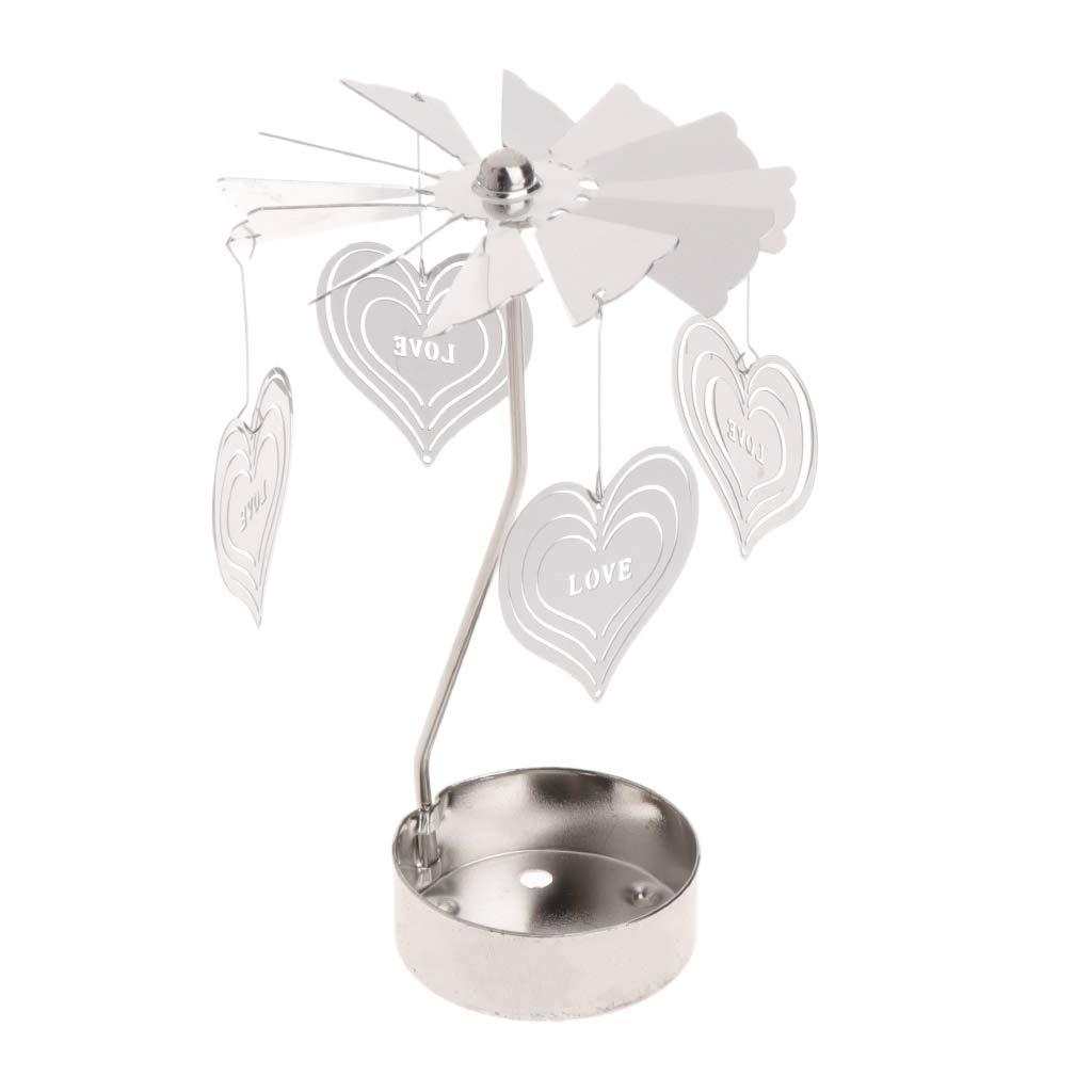 Love Heart tea light spinner