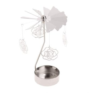 Rose tea light spinner