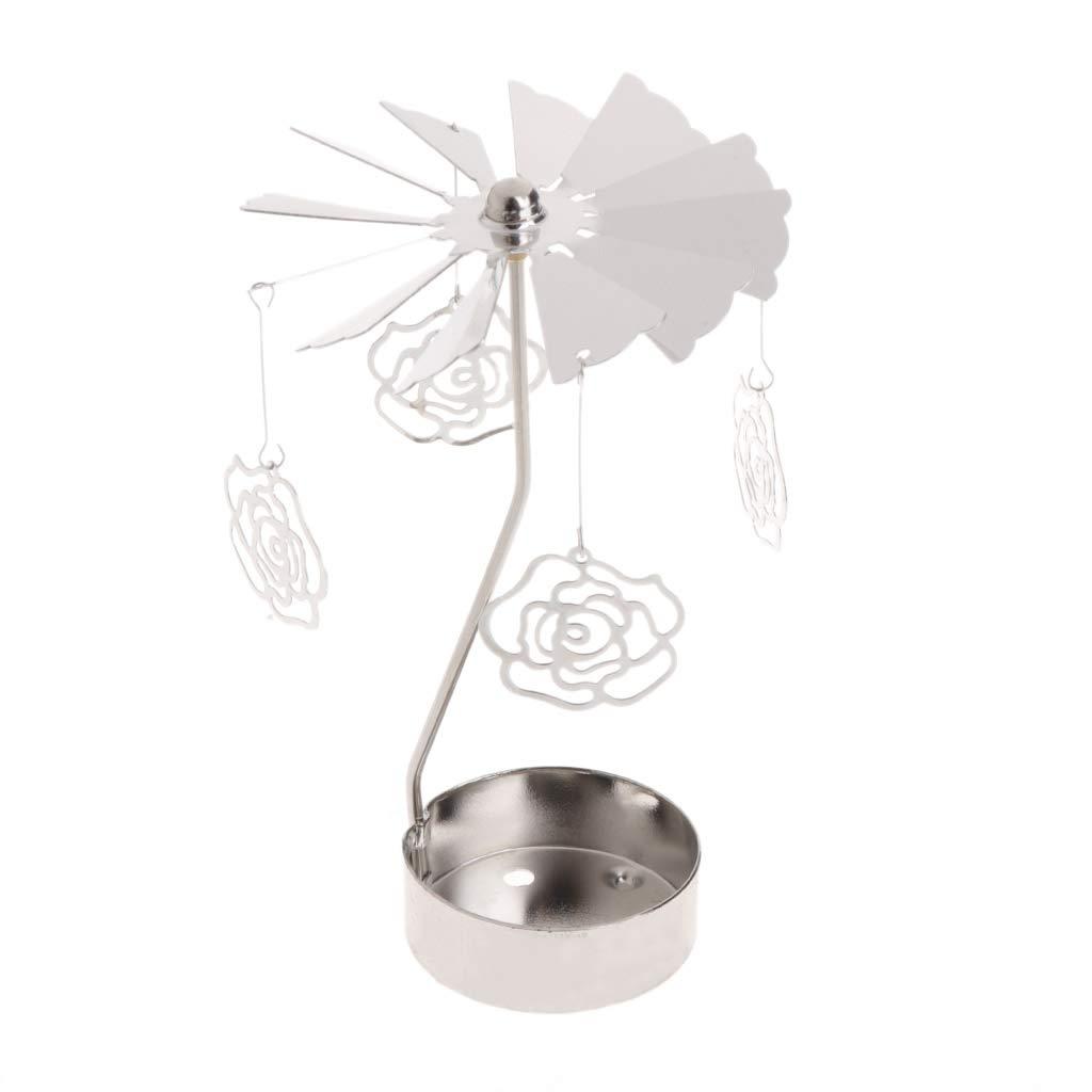 Rose tea light spinner