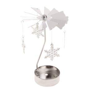 Snowflake tea light spinner