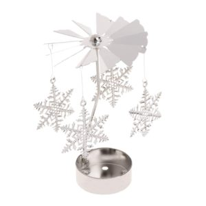 Large snowflake tea light spinner