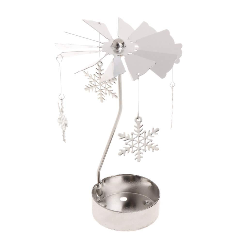 Snowflake tea light spinner