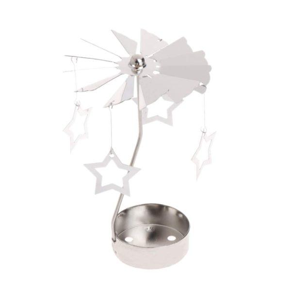 Star tea light spinner