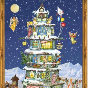 """Advent Calendar Card """"Christmas Tower"""""""