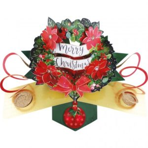 pop up card Wreath