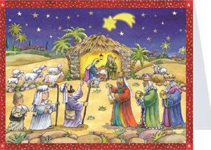"Advent Calendar Card ""We've seen a star"""