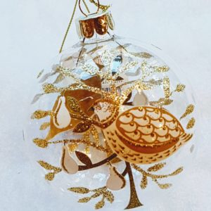 gold partridge bauble