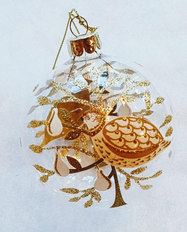 gold partridge bauble