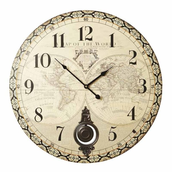 Large map wall clock