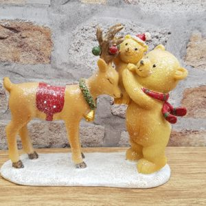 bear and reindeer scene