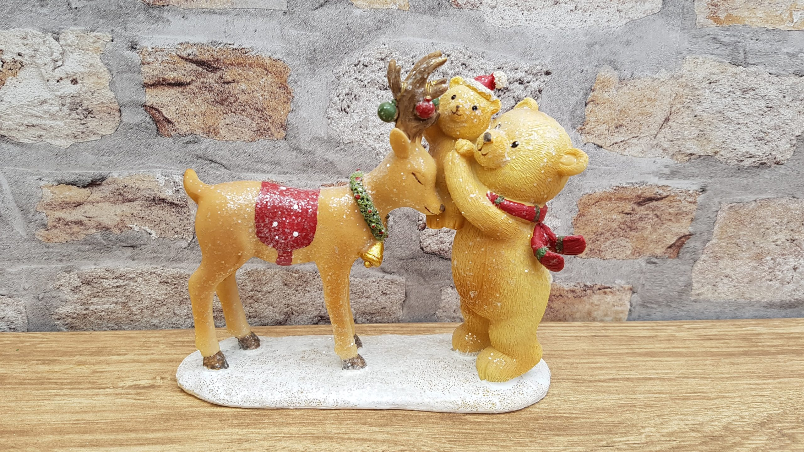 bear and reindeer scene