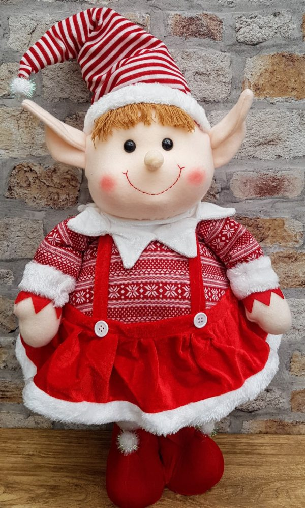 girl standing elf decorstion