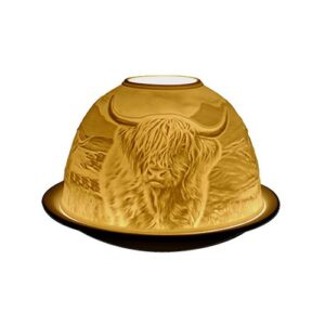 Highland cow lightglow tealight holder