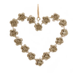 Champagne Rose Heart Hanger